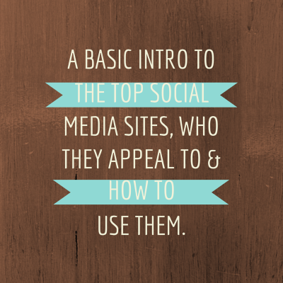 PAIRING SOCIAL MEDIA SITES WITH YOUR BUSINESS - LUCY LETTERSMITH
